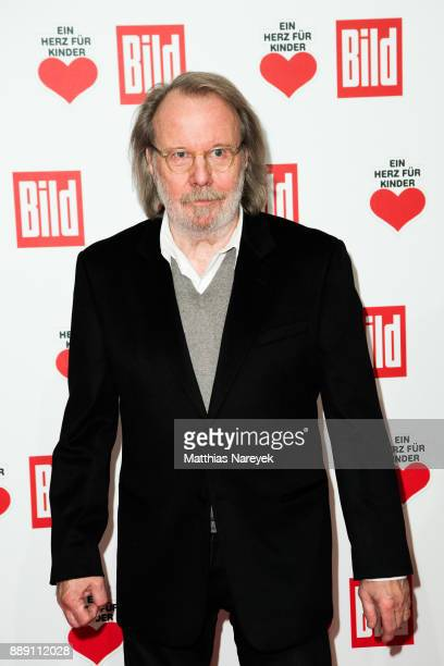 Benny Andersson a former member of the band ABBA arrives at the Ein Herz Fuer Kinder gala on at Studio Berlin Adlershof on December 9 2017 in Berlin...