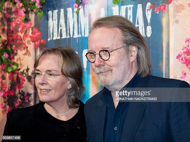 Benny Andersson a member of Swedish disco group ABBA attends the opening of 'Mamma Mia The party' a new restaurant in Stockholm where people can eat...