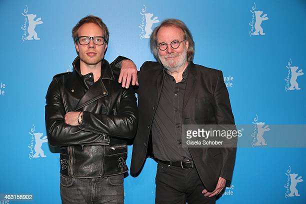 Benny Andersson Founder of ABBA and his son Ludvig Andersson during 'The Circle' Premiere during the 65th Berlinale International Film Festival at...