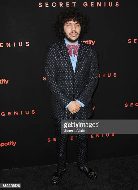 Benny Blanco attends Spotify's inaugural Secret Genius Awards at Vibiana Cathedral on November 1 2017 in Los Angeles California