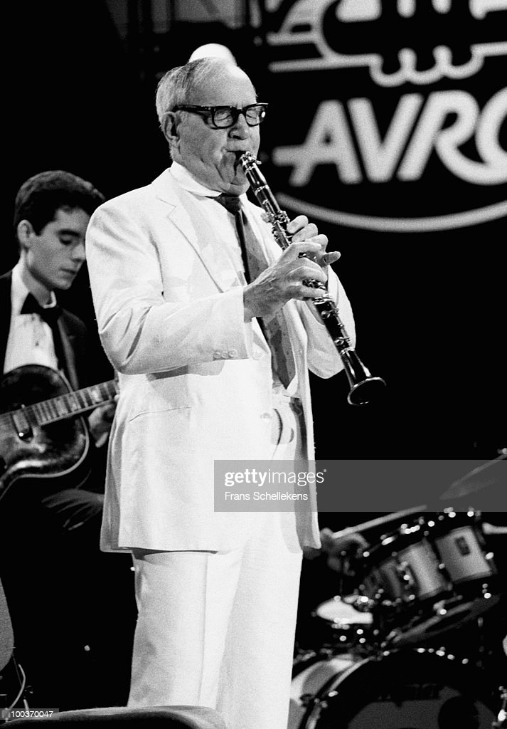 Benny Goodman performs live on stage at the North Sea Jazz Festival in The Hague, Holland on July 12 1982