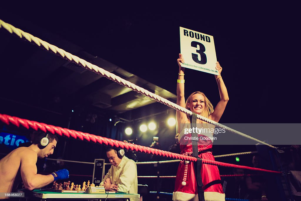 Benny King and Isidro Gete in the ring during the Chessboxing 2012 Season Finale at Scala on December 8, 2012 in London, England.