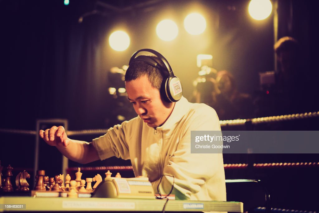 Benny King in the ring during the Chessboxing 2012 Season Finale at Scala on December 8, 2012 in London, England.