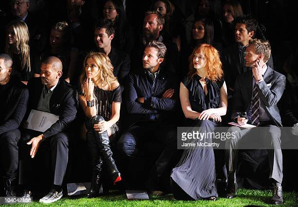 Benny Medina Jennifer Lopez Bradley Cooper Christina Hendricks and Neil Patrick Harris attend the Tommy Hilfiger Spring 2011 Men's and Women's show...