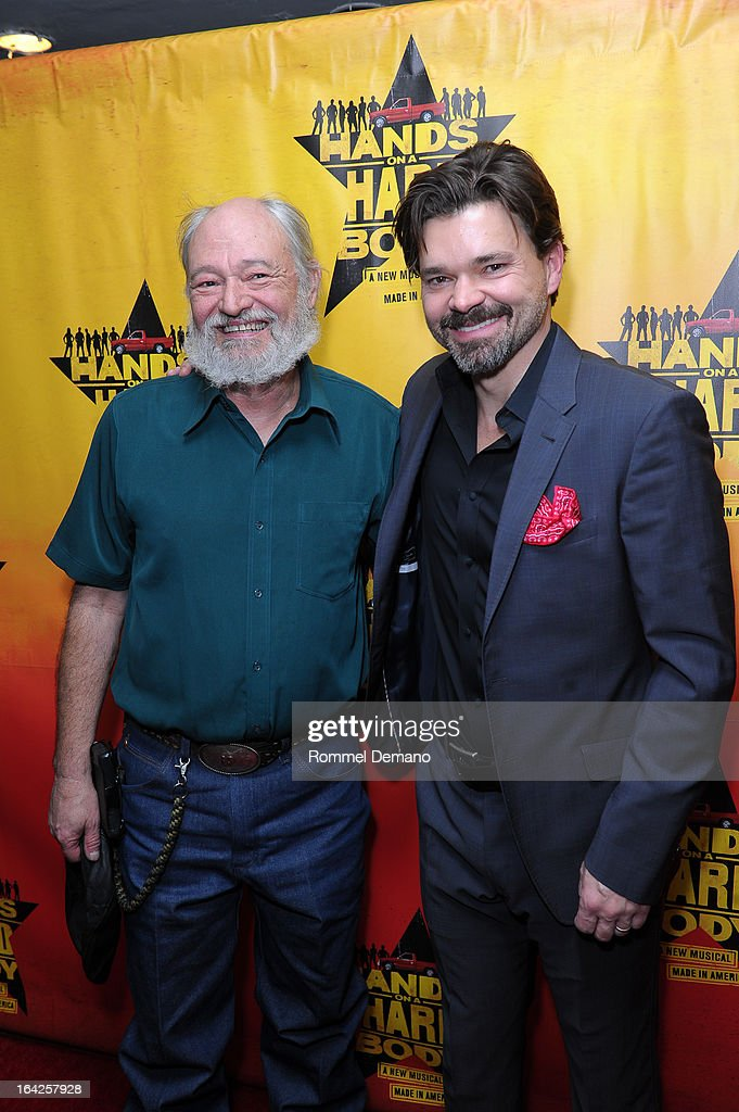 Benny Perkins and Hunter Foster attend 'Hands On A Hard Body' Broadway Opening Night After Party at Roseland Ballroom on March 21, 2013 in New York City.