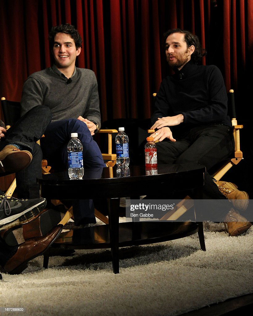 Benny Safdie (L) and Joshua Safdie speak during the Future Of Film: A Conversation With Nerdist during the 2013 Tribeca Film Festival on April 23, 2013 in New York City.
