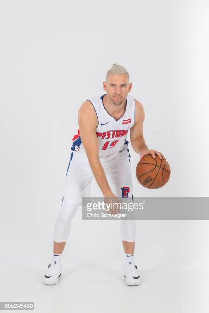 Beno Udrih of the Detroit Pistons poses for a portrait during Media Day on September 25 2017 at the Little Caesars Arena Detroit MI NOTE TO USER User...