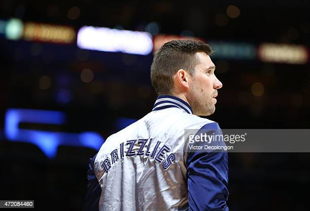 Beno Udrih of the Los Angeles Clippers warms up prior to their NBA game against the Los Angeles Clippers at Staples Center on April 11 2015 in Los...
