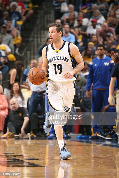 Beno Udrih of the Memphis Grizzlies drives against the Golden State Warriors in Game Six of the Western Conference Semifinals of the NBA Playoffs at...