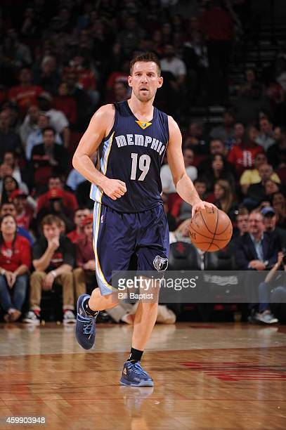 Beno Udrih of the Memphis Grizzlies handles the ball against the Houston Rockets on December 3 2014 at Toyota Center in Houston Texas NOTE TO USER...