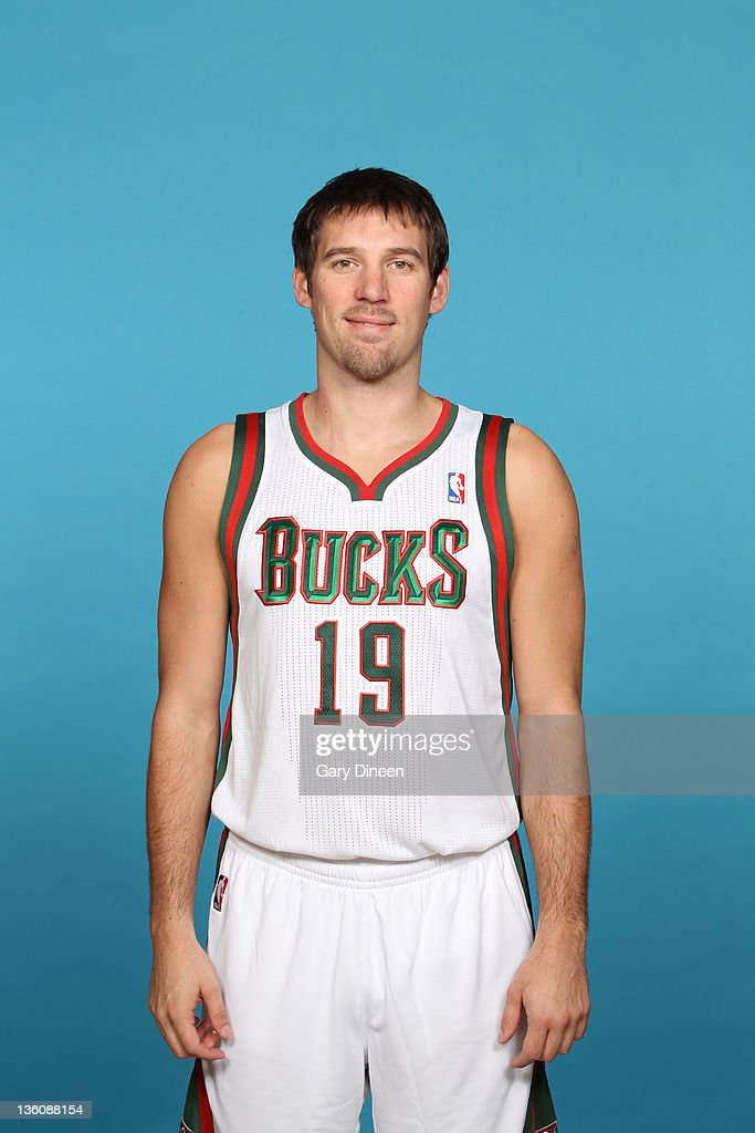 <a gi-track='captionPersonalityLinkClicked' href=/galleries/search?phrase=Beno+Udrih&family=editorial&specificpeople=202616 ng-click='$event.stopPropagation()'>Beno Udrih</a> #19 of the Milwaukee Bucks poses for a portrait during media day at the Cousins Center on December 10, 2011 in St. Francis, Wisconsin.