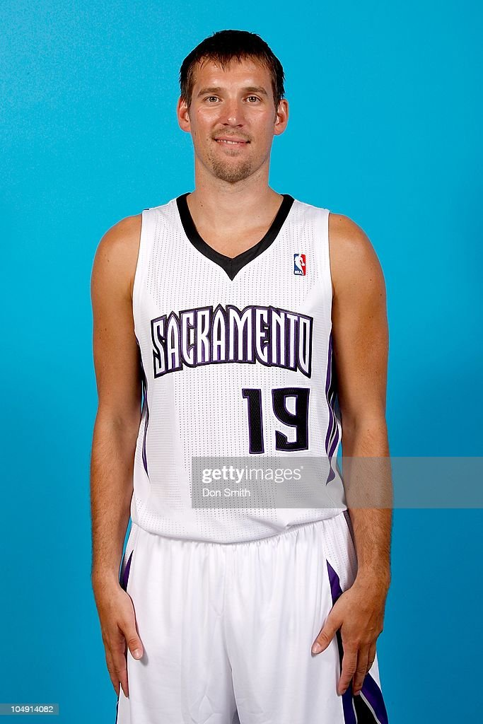 <a gi-track='captionPersonalityLinkClicked' href=/galleries/search?phrase=Beno+Udrih&family=editorial&specificpeople=202616 ng-click='$event.stopPropagation()'>Beno Udrih</a> #19 of the Sacramento Kings poses for a portrait during 2010 NBA Media Day on September 27, 2010 at the ARCO Arena in Sacramento, California.