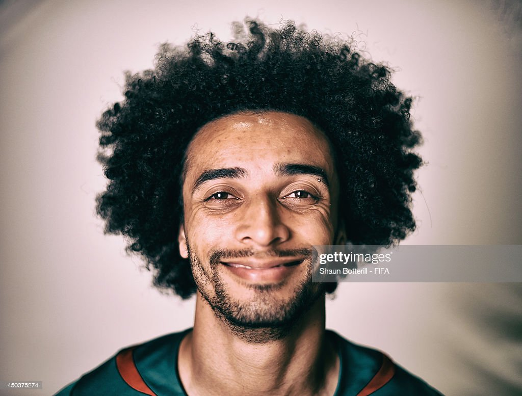Benoit Assou Ekotto of Cameroon poses during the official FIFA World Cup 2014 portrait session on June 9, 2014 in Vitoria, Brazil.