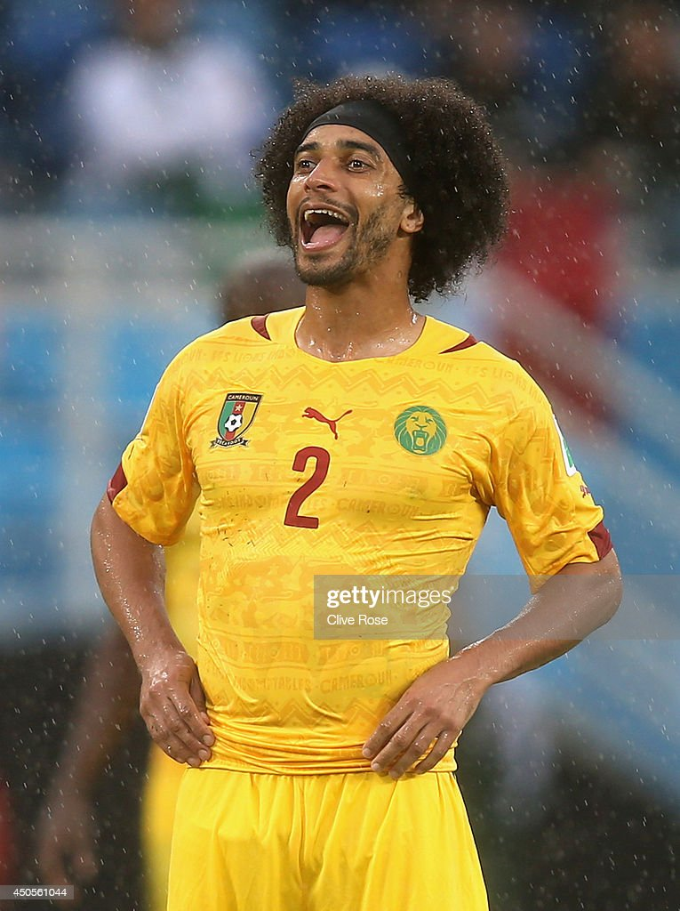 <a gi-track='captionPersonalityLinkClicked' href=/galleries/search?phrase=Benoit+Assou-Ekotto&family=editorial&specificpeople=709848 ng-click='$event.stopPropagation()'>Benoit Assou-Ekotto</a> of Cameroon reacts during the 2014 FIFA World Cup Brazil Group A match between Mexico and Cameroon at Estadio das Dunas on June 13, 2014 in Natal, Brazil.