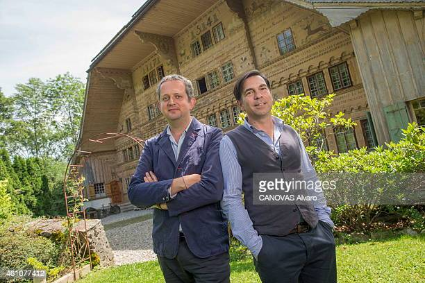 Benoit Astier de la Villate and Ivan Pericoli the founders of the ceramic artshop min La Rossiniere on July 25 2014