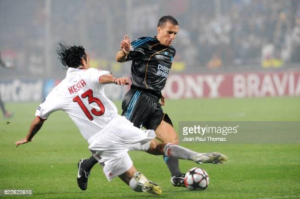 Benoit CHEYROU / Alessandro NESTA Marseille / Milan AC 1er tour Champions League Stade Velodrome Marseille