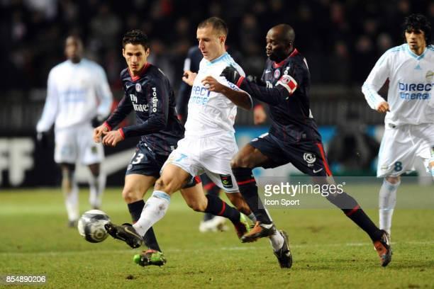 Benoit CHEYROU / Claude MAKELELE PSG / Marseille 27eme journee de Ligue 1 Parc des Princes