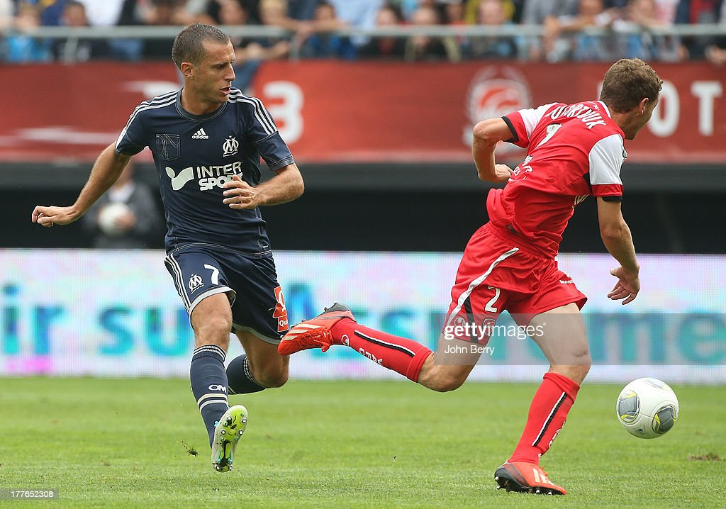 <a gi-track='captionPersonalityLinkClicked' href=/galleries/search?phrase=Benoit+Cheyrou&family=editorial&specificpeople=648473 ng-click='$event.stopPropagation()'>Benoit Cheyrou</a> of OM in action during the French Ligue 1 match between Valenciennes FC and Olympique de Marseille OM at the Stade du Hainaut stadium on August 24, 2013 in Valenciennes, France.
