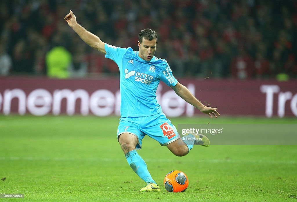 <a gi-track='captionPersonalityLinkClicked' href=/galleries/search?phrase=Benoit+Cheyrou&family=editorial&specificpeople=648473 ng-click='$event.stopPropagation()'>Benoit Cheyrou</a> of OM in action during the French Ligue 1 match between Lille OSC and Olympique de Marseille OM at the Grand Stade Pierre Mauroy on December 3, 2013 in Lille, France.