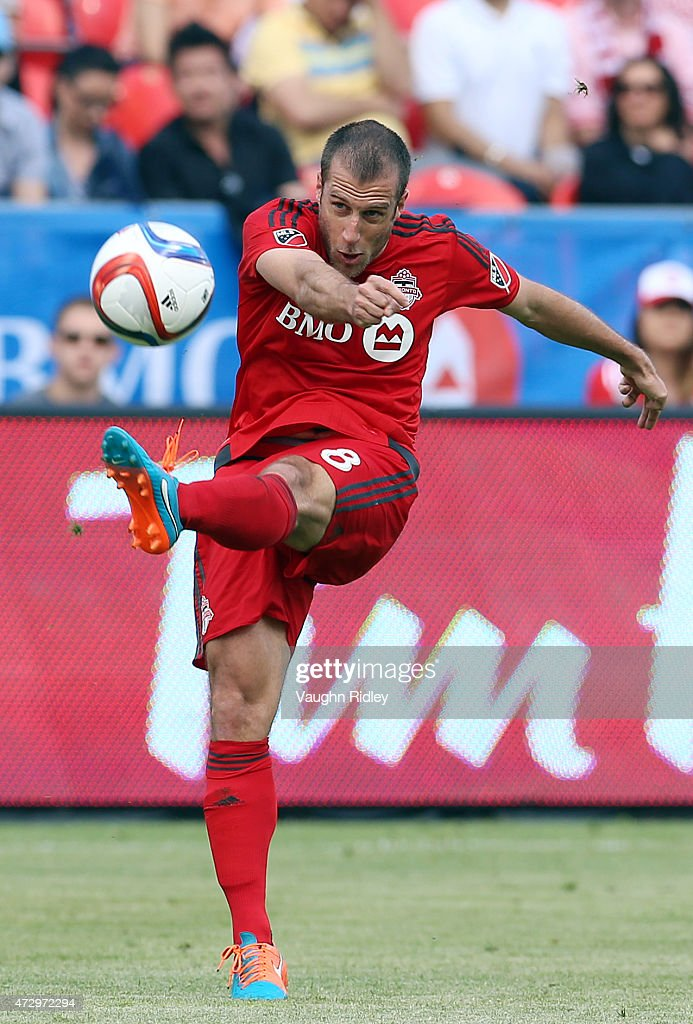 <a gi-track='captionPersonalityLinkClicked' href=/galleries/search?phrase=Benoit+Cheyrou&family=editorial&specificpeople=648473 ng-click='$event.stopPropagation()'>Benoit Cheyrou</a> #8 of Toronto FC during an MLS soccer game against the Houston Dynamo at BMO Field on May 10, 2015 in Toronto, Ontario, Canada.