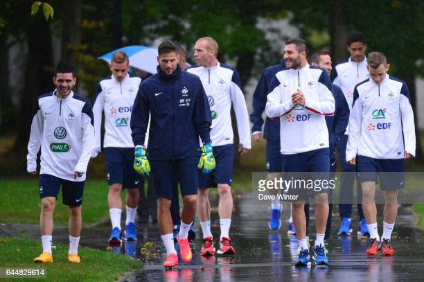 Benoit COSTIL / Andre Pierre GIGNAC Football Entrainement Equipe de France Clarefontaine Photo Dave Winter / Icon Sport