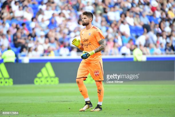 Benoit Costil of Bordeaux during the Ligue 1 match between Olympique Lyonnais and FC Girondins de Bordeaux at Groupama Stadium on August 19 2017 in...