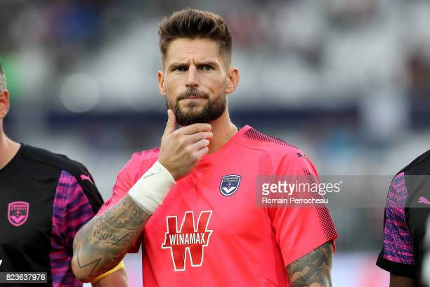 Benoit Costil of Bordeaux looks on before the UEFA Europa League qualifying match between Bordeaux and Videoton at Stade Matmut Atlantique on July 27...