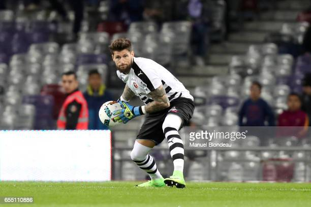 Benoit Costil of Rennes during the French League match between Toulouse and Rennes at Stadium Municipal on March 18 2017 in Toulouse France