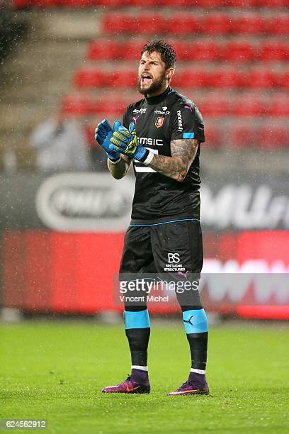 Benoit Costil of Rennes during the Ligue 1 match between Stade Rennais and Sco Angers at Stade de la Route de Lorient on November 19 2016 in Rennes...