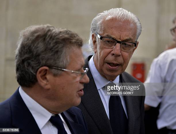 Benoit DucosAder lawyer of Liliane Bettencourt and Jean Veil lawyer of Benttencourt's daughter Francoise BettencourtMeyers arrive at the courthouse...