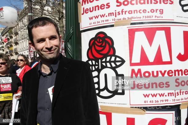 Benoit HAMON Manifestation du 19 mars 2009 Paris