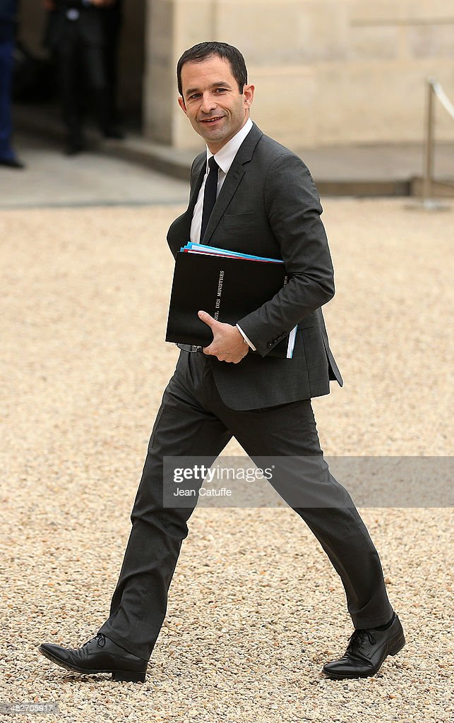 Benoit Hamon, french Minister of Education attends the first 'Conseil Des Ministres' of France new government at Elysee Palace on April 4, 2014 in Paris, France.