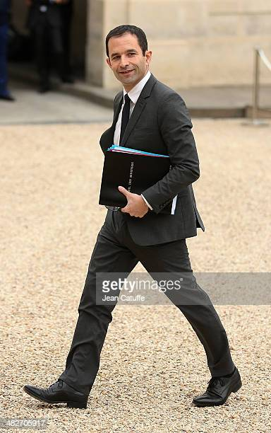 Benoit Hamon french Minister of Education attends the first 'Conseil Des Ministres' of France new government at Elysee Palace on April 4 2014 in...