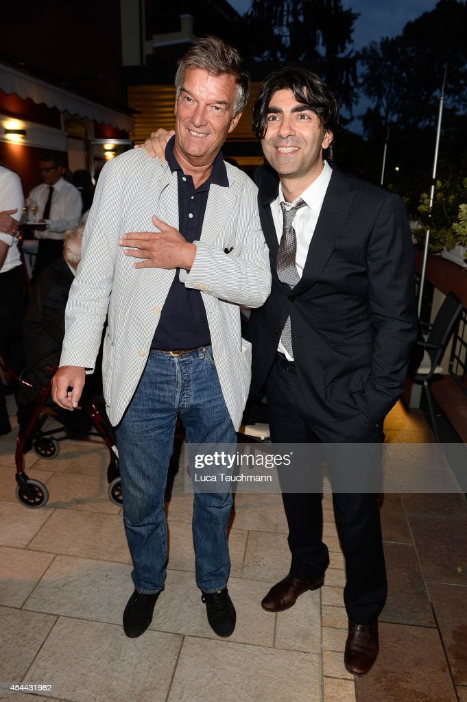 Benoit Jacquot and <a gi-track='captionPersonalityLinkClicked' href=/galleries/search?phrase=Fatih+Akin&family=editorial&specificpeople=209129 ng-click='$event.stopPropagation()'>Fatih Akin</a> attend the NRW Reception during the 71st Venice Festival on August 31, 2014 in Venice, Italy.