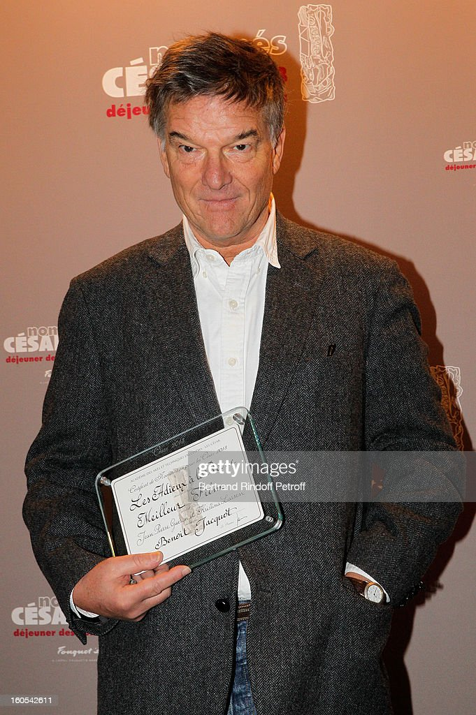 <a gi-track='captionPersonalityLinkClicked' href=/galleries/search?phrase=Benoit+Jacquot&family=editorial&specificpeople=2373956 ng-click='$event.stopPropagation()'>Benoit Jacquot</a> attends the Cesar 2013 nominne lunch at Le Fouquet's on February 2, 2013 in Paris, France.