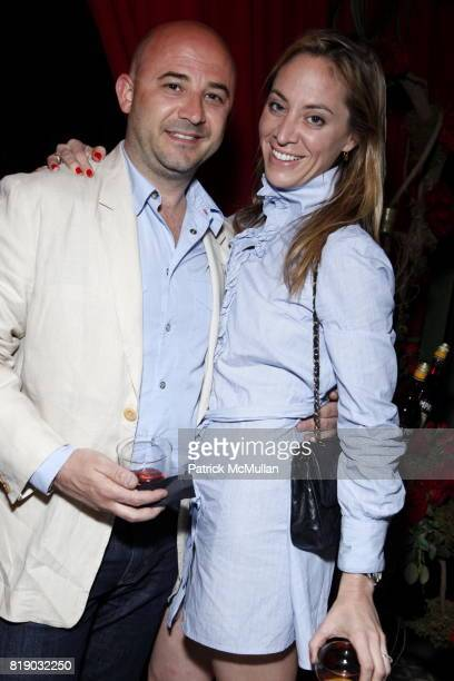 Benoit Lagarde and Terah Stone attend CAMPARI's 150th Anniversary at Bowery Hotel on May 16th 2010 in New York City