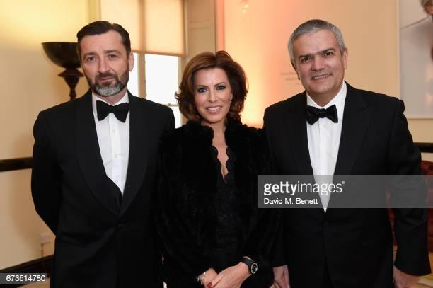 Benoit Lecigne Natasha Kaplinsky and Ricardo Guadalupe attend Hublot 'Classic Fusion Chronograph Prince's Trust' launch at The Orangery Kensington...