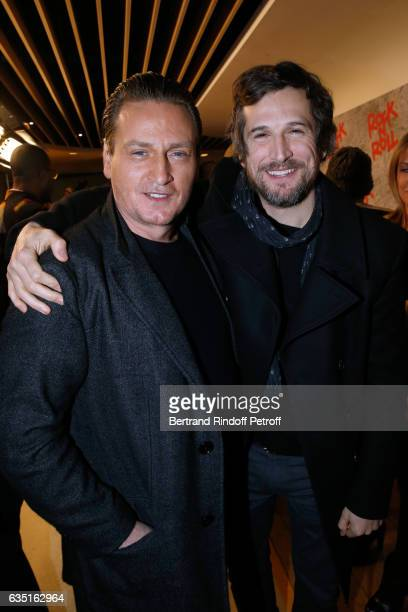 Benoit Magimel and Director of the movie Guillaume Canet attend the 'Rock'N Roll' Premiere at Cinema Pathe Beaugrenelle on February 13 2017 in Paris...