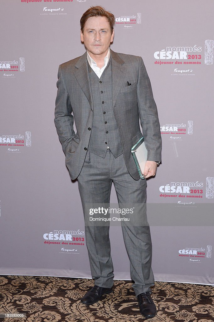 <a gi-track='captionPersonalityLinkClicked' href=/galleries/search?phrase=Benoit+Magimel&family=editorial&specificpeople=626816 ng-click='$event.stopPropagation()'>Benoit Magimel</a> attends the Cesar 2013 Nominee Lunch at Le Fouquet's on February 2, 2013 in Paris, France.