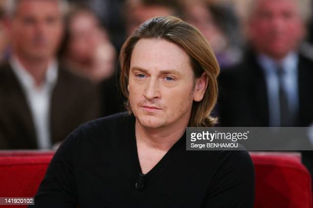 Benoit Magimel attends Vivement Dimanche Tv show on December 7 2011 in Paris France