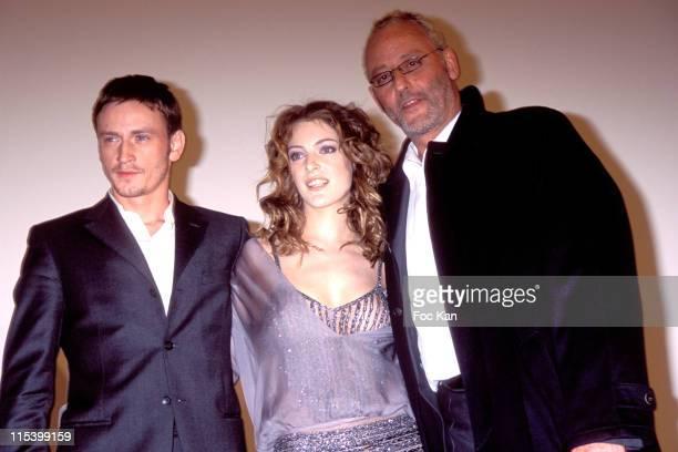 Benoit Magimel Camille Nata and Jean Reno during 'Purple Rivers 2' Paris Premiere at Gaumont Marignan in Paris France