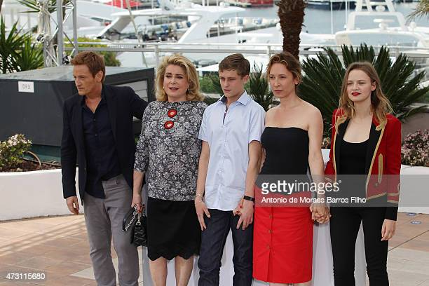 Benoit Magimel Catherine Deneuve Rod ParadotEmmanuelle Bercot Sara Forestier attend the 'La Tete Haute' photocall during the 68th annual Cannes Film...