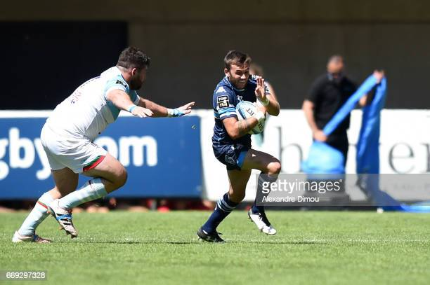 Benoit Paillaugue of Montpellier during the Top 14 match between Montpellier and Bayonne on April 16 2017 in Montpellier France
