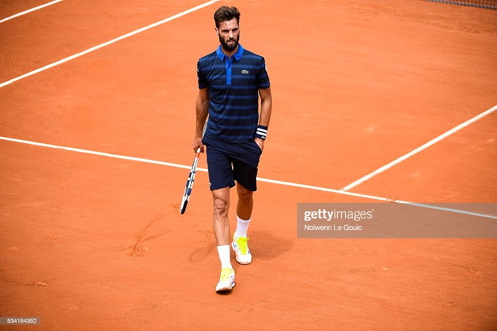 Benoit Paire during the Men's Singles second round on day four of the French Open 2016 at Roland Garros on May 25, 2016 in Paris, France.