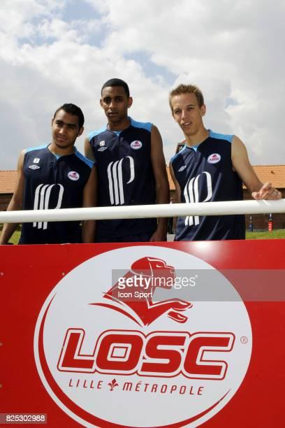 Benoit PEDRETTI / Ronny RODELIN / Dimitri PAYET reprise Entrainement et conference de presse Lille Ligue 1 2011/2012