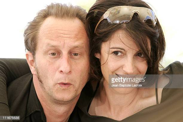 Benoit Poelvoorde and Zabou Breitman during 2004 Cannes Film Festival 'Narc' Photocall at Palais Du Festival in Cannes France