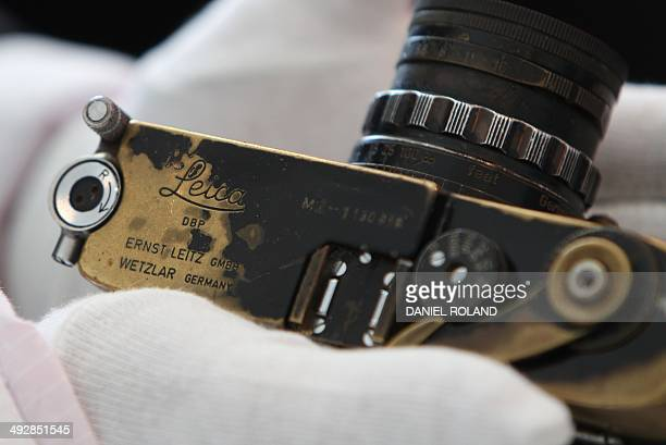 Benoit TOUSSAINT A Leica Model M 'Paul Fusco' part of an auction taking place on May 23 is pictured on the occasion of the company's 100 year...