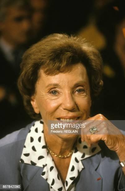 Benoite Groult a l'emission televisee 'ExLibris' sur TF1 le 8 septembre 1993 a Paris France