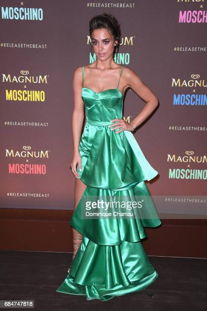 Bensu Soral attends Magnum party during the 70th annual Cannes Film Festival at Magnum Beach on May 18 2017 in Cannes France