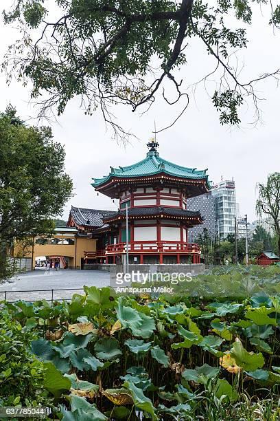 Benten Temple Hall in Ueno Park in Tokyo, Japan